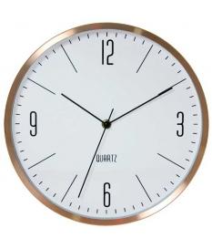 Reloj pared aluminio cobre