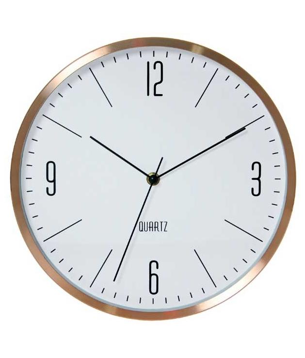 Comprar reloj pared aluminio cobre - Relojes pared cocina ...