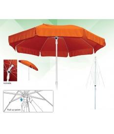 Parasol Aluminio con faldón para hostelería 2m diámetro