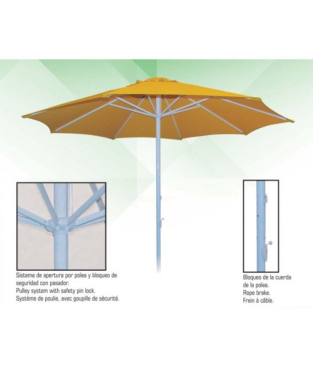 Parasol Aluminio y Acero 3 m diámetro