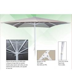 Parasol Aluminio y Acero 2,5 x 2,5 m