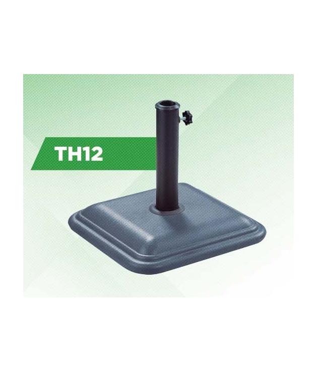 Pie parasol de cemento pintado TH12
