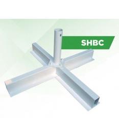 Base de parasol cruz metálica 98x98cm