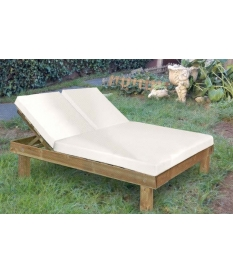 Tumbona doble Chill Out madera