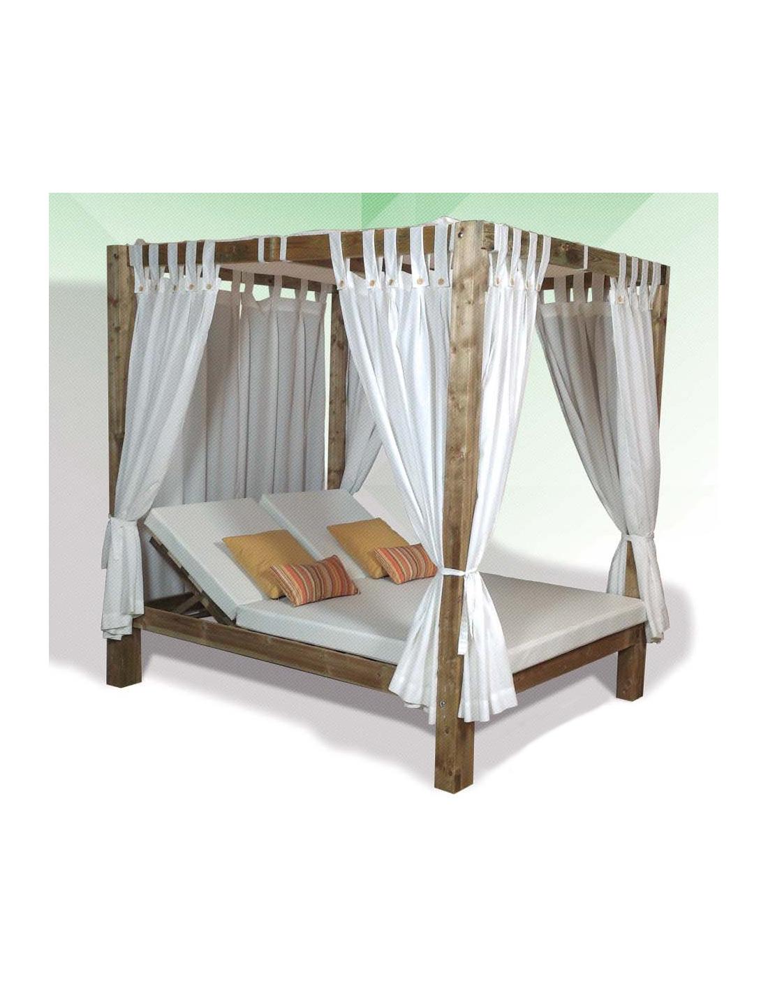 Comprar cama balinesa madera reclinable for Cama reclinable