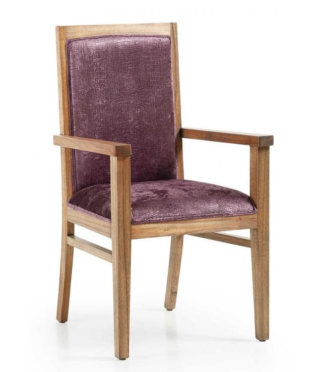 Comprar silla de comedor con brazos merapi malva - Sillas de comedor con brazos ...