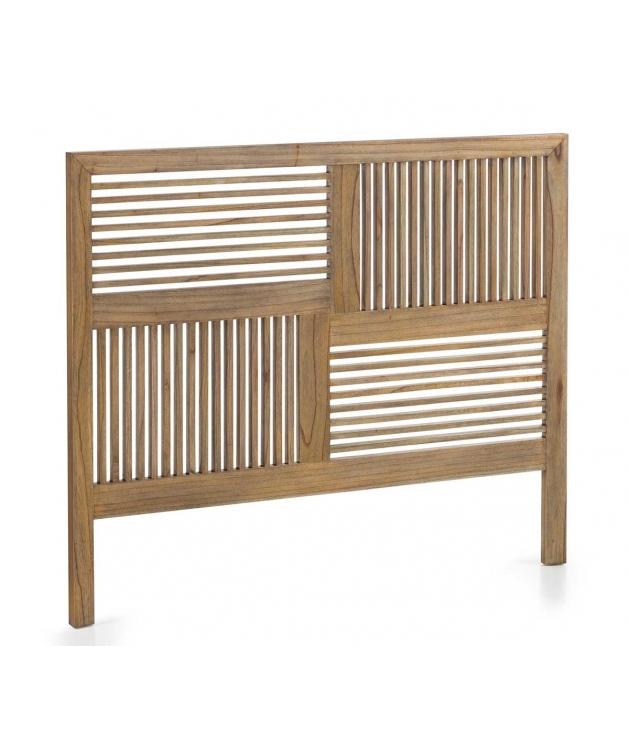 Cabecero Merapi barrotes horizontales y verticales cama 150 cm