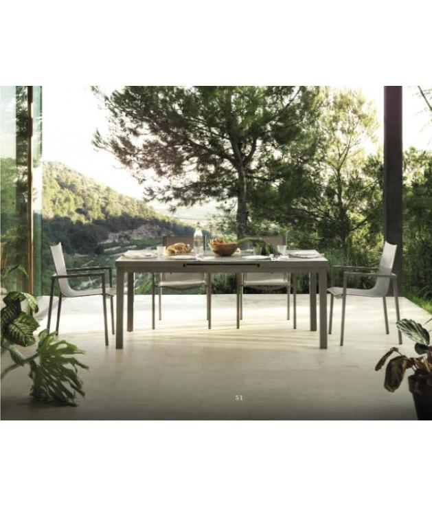 Conjunto jardín White sillas y mesa color Taupe