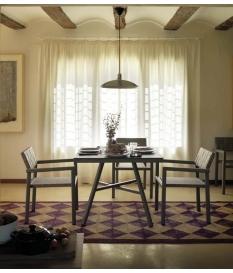 Conjunto jardín Cube sillas y mesa 90x90 cm