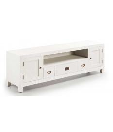 Mueble TV New White 3 cajones y 2 puertas
