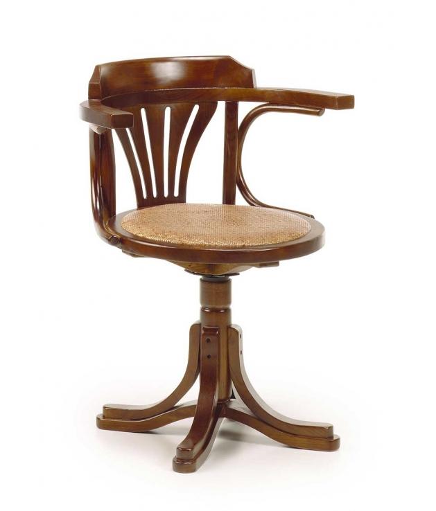 Comprar silla comedor con brazos star asiento rattan giratoria - Sillas de comedor con brazos ...