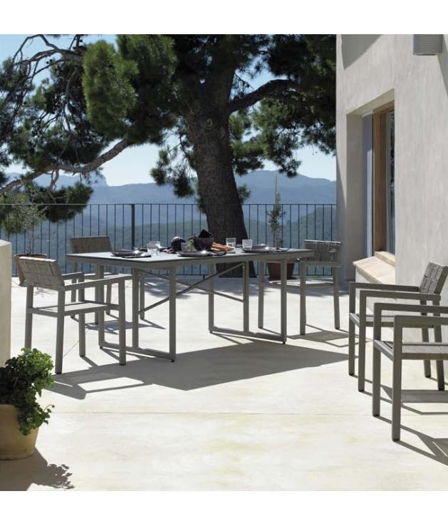 Conjunto jardín Cube 6 sillas y mesa 180x100 cm