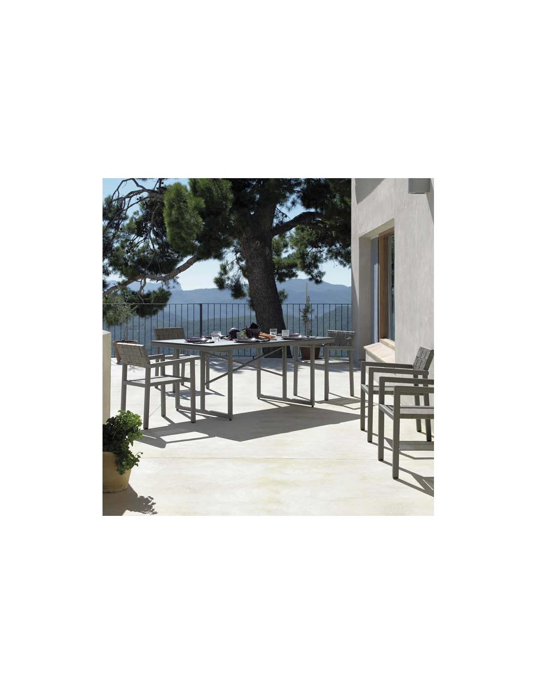 Comprar conjunto de jard n cube 6 sillas y mesa 180 x 100 cm for Conjunto de mesa y sillas de jardin