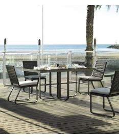 Conjunto jardín Star 4 sillas y mesa 152x91 cm