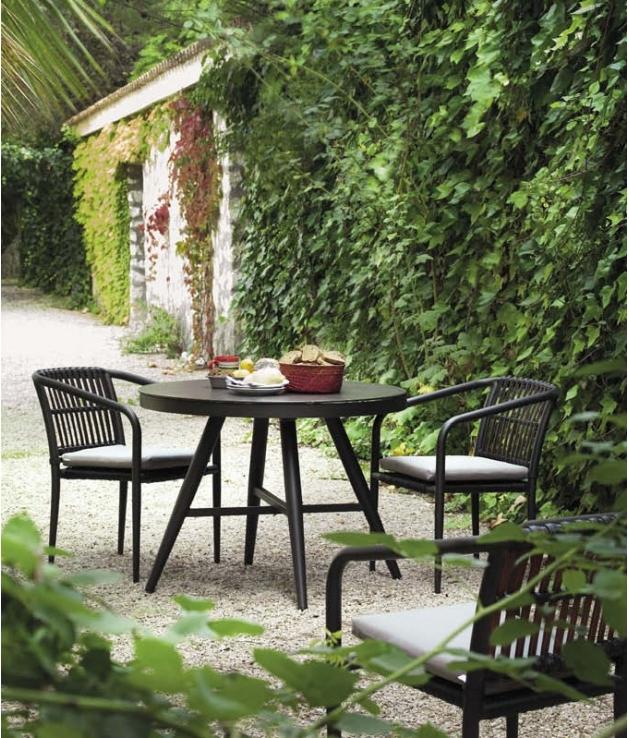 Conjunto jardín Delta 2 sillas y mesa 100 cm diámetro