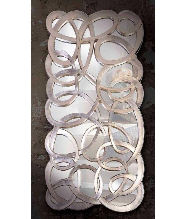 Espejo óvalos entrelazados en color plata