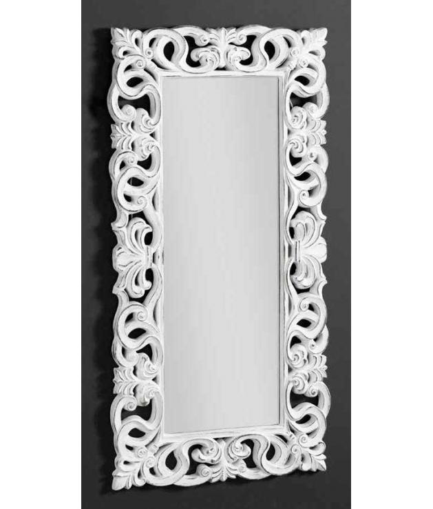 Comprar espejo marco arabescos poliresina blanco decap for Espejo marco madera blanco