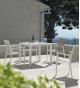 Conjunto jardín White sillas y mesa 90x90 cm