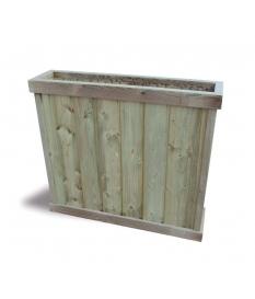 Jardinera madera de pino 100x90x24 cm