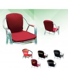 Cojines para silla recta con solapa trasera desenfundable