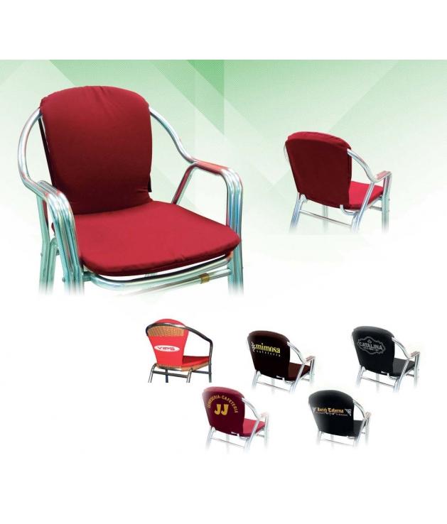 Comprar cojines para silla respaldo alto curvo desenfundable - Cojines para silla ...