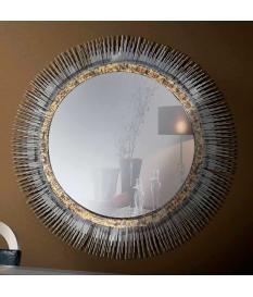 Espejo decorativo marco latón 81 cm diam.