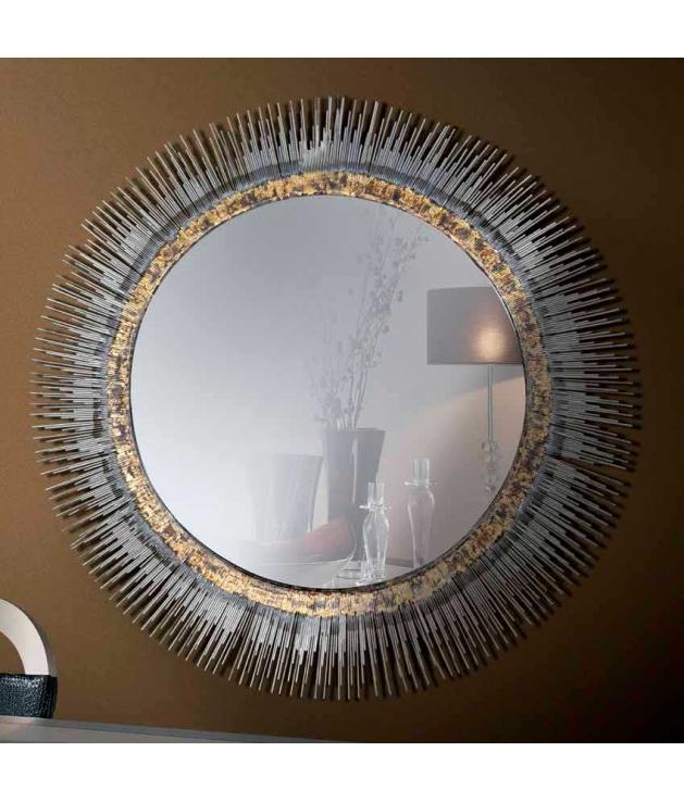 Comprar Espejo decorativo redondo marco de latón de 81 cm diámetro