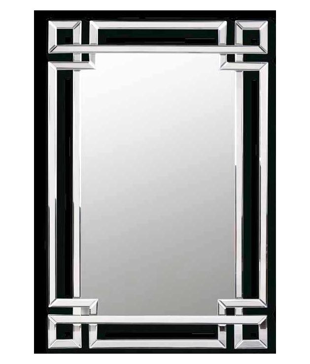 Espejo veneciano con formas geométricas 80 x 120 cm