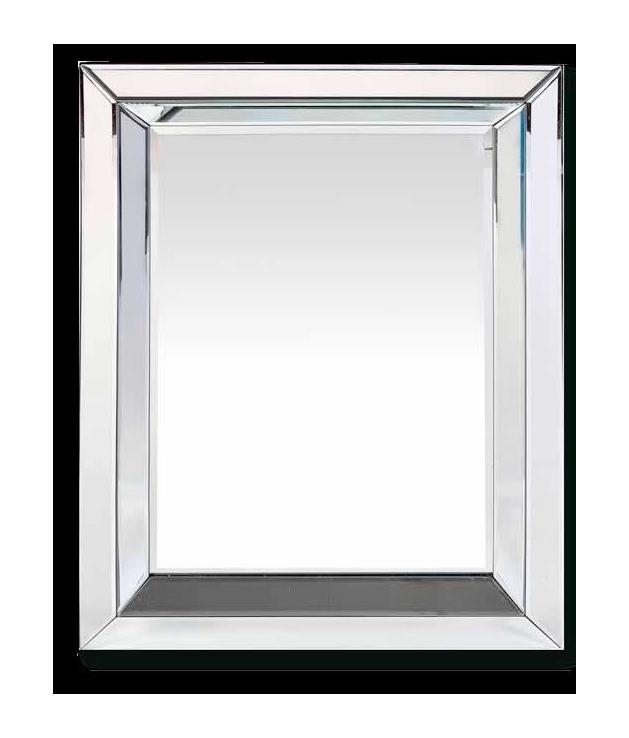 Comprar Espejo veneciano con marco formando ángulos de 70 x 90 cm.