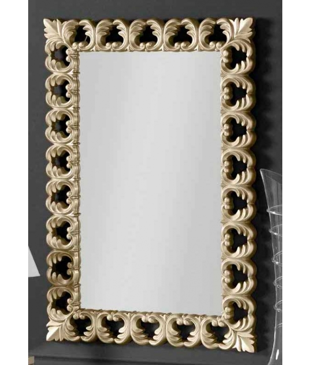 Espejo poliresina arabescos champagne 76 x 114 cm