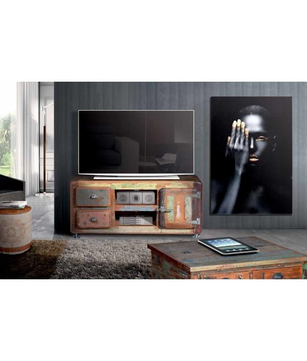 Comprar mueble tv vintage en madera reciclada for Mueble tv vintage