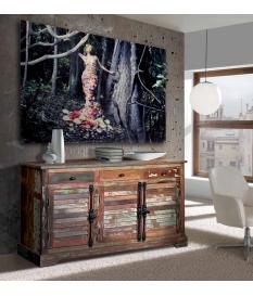 Aparador madera reciclada vintage