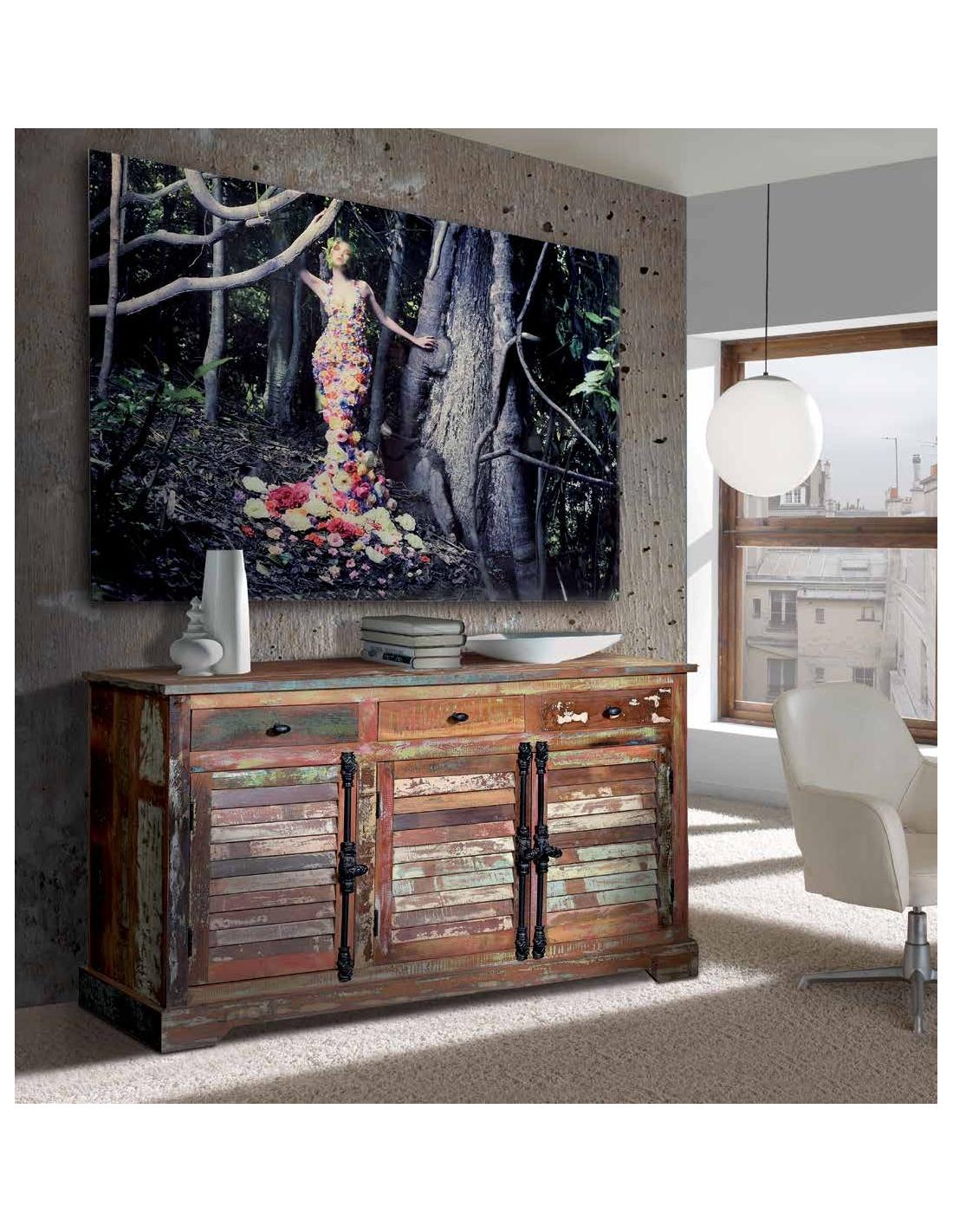 Artesanato Baiano Passo A Passo ~ Comprar Aparador vintage en madera reciclada cajones y