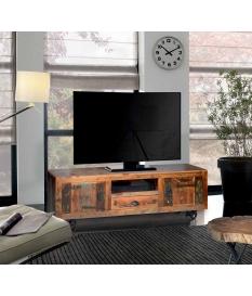 Mueble TV vintage con ruedas