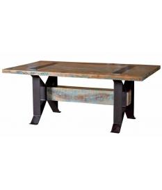 Mesa de comedor vintage madera reciclada-combinación