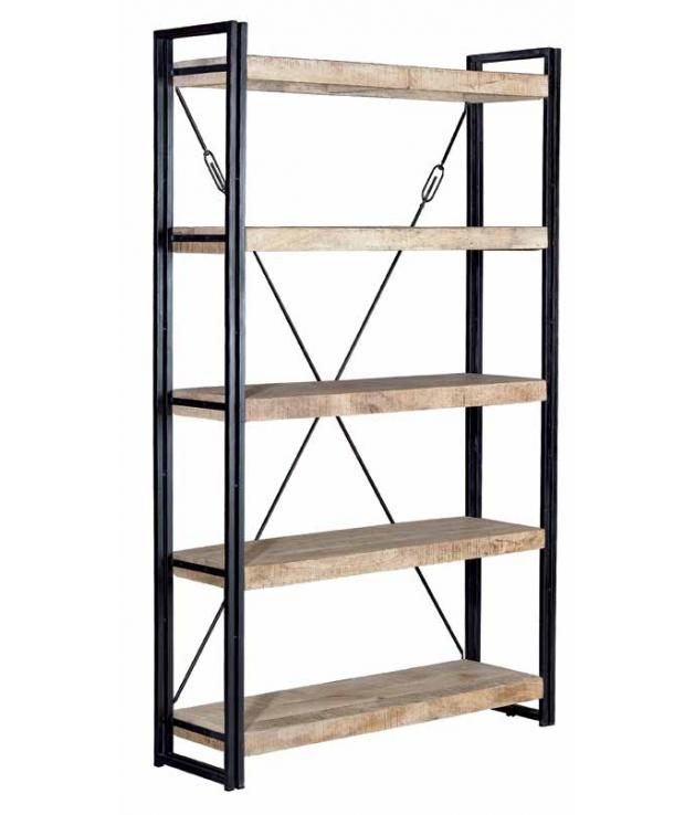 comprar estanter a vintage en madera de mango y forja