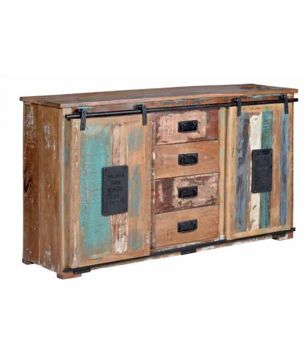 Comprar aparador vintage en madera reciclada puertas for Puertas con madera reciclada