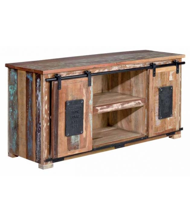 Comprar mueble vintage madera reciclada baldas y puertas for Muebles con madera reciclada