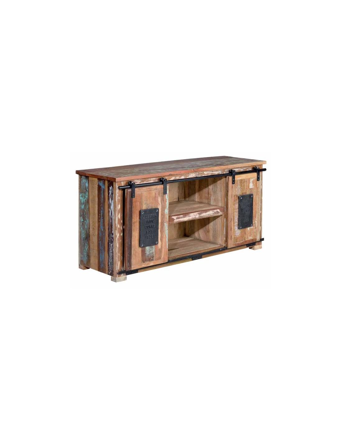 Comprar mueble vintage madera reciclada baldas y puertas for Diseno de muebles con madera reciclada