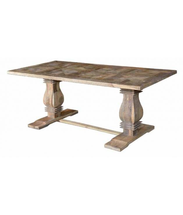 Comprar Mesa de comedor vintage en madera de mango macizo.