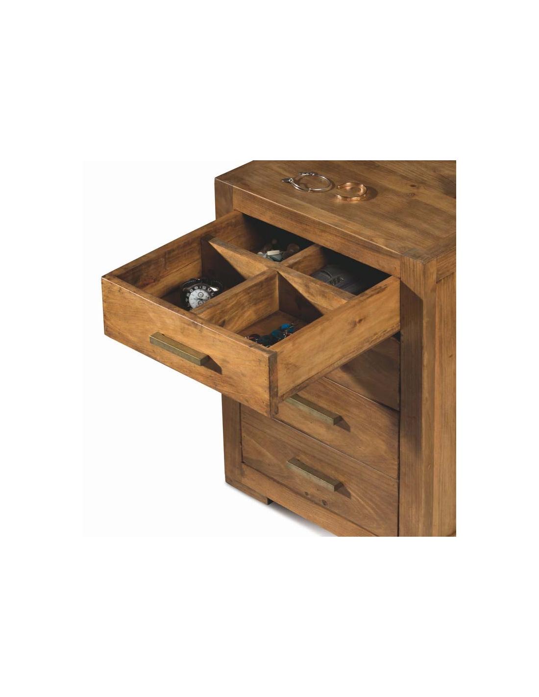 Comprar mesita noche rustica madera modular studio 40115 - Mesitas de noche rusticas ...