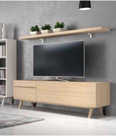 Mueble TV Zoe pata despuntada180 cm