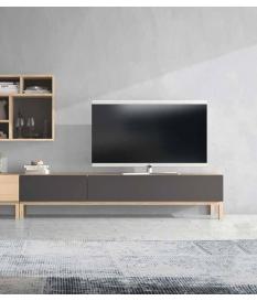 Mueble TV Zoe con dos cajones pata recta 180 cm