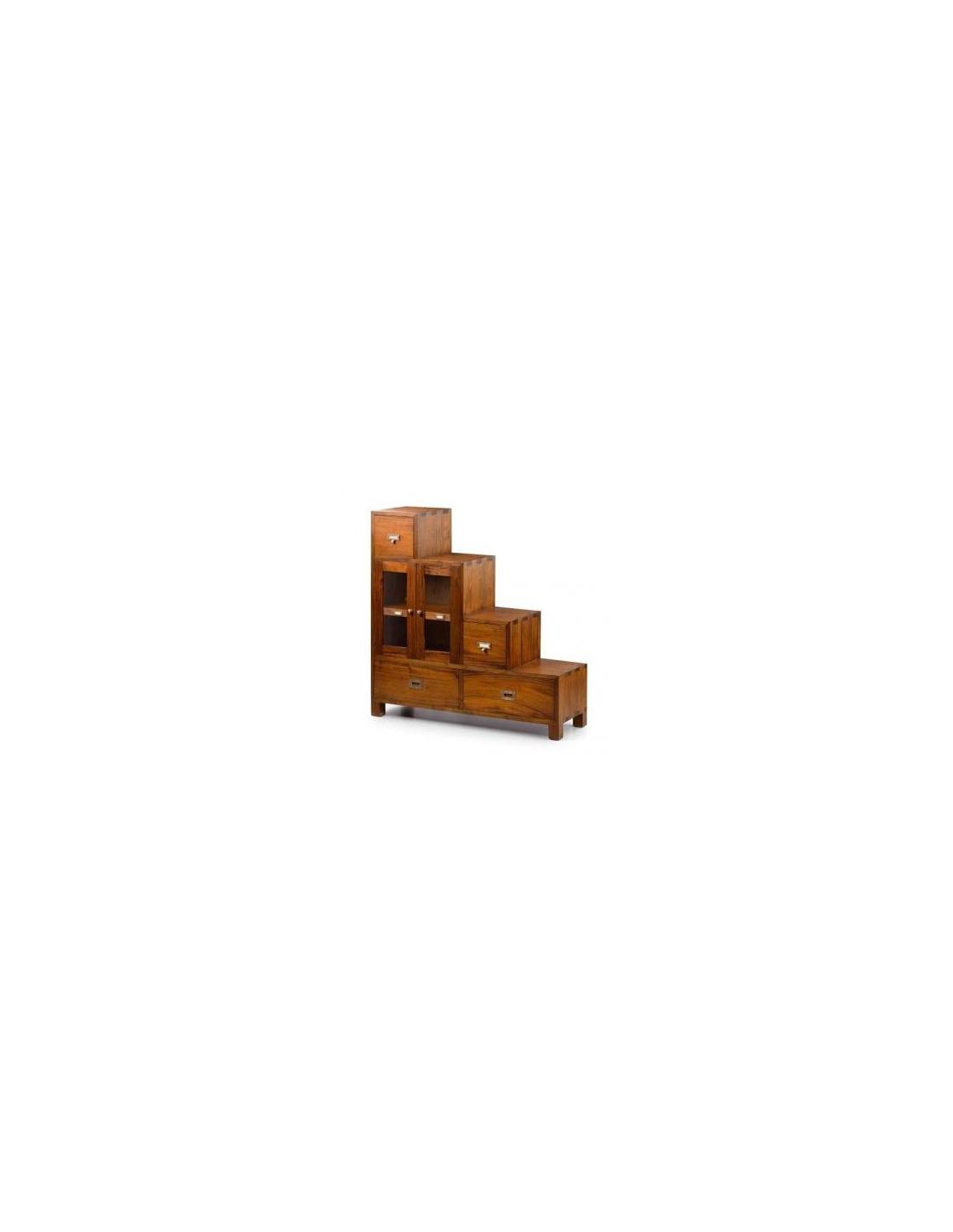 Comprar mueble escalera izquierda 2 puertas 4 cajones for Mueble 4 puertas