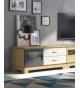 Mueble TV Vega 120 cm una puerta y dos cajones