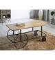 Mesa de centro madera y metal de 110 cm