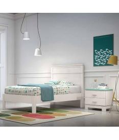 Conjunto juvenil Vega cama, cabecero y mesilla de noche