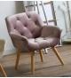 Butaca sillón modelo Saoul terciopelo rosa pálido