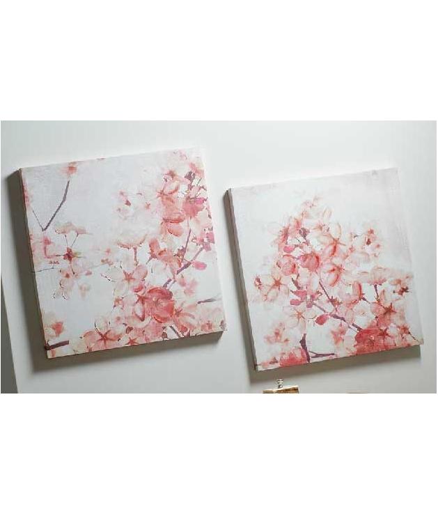 Set dos cuadros flor de almendro impresión papiro