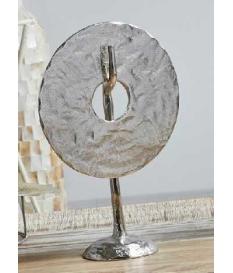 Figura aluminio moneda color plata